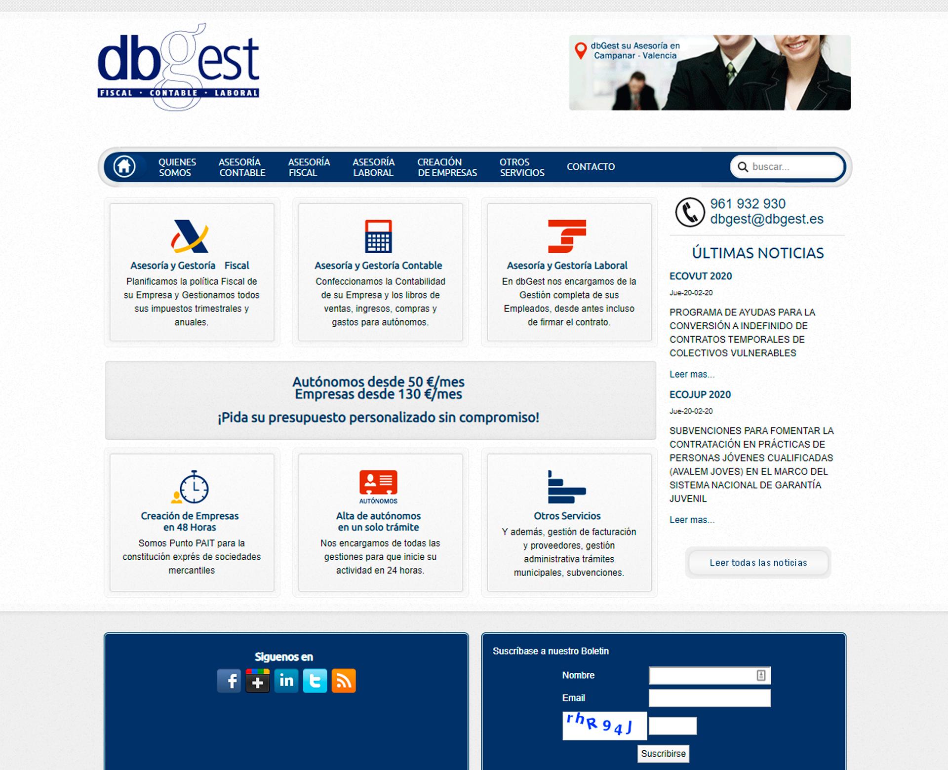 DBGest Gestoría Fiscal y Laboral en Valencia