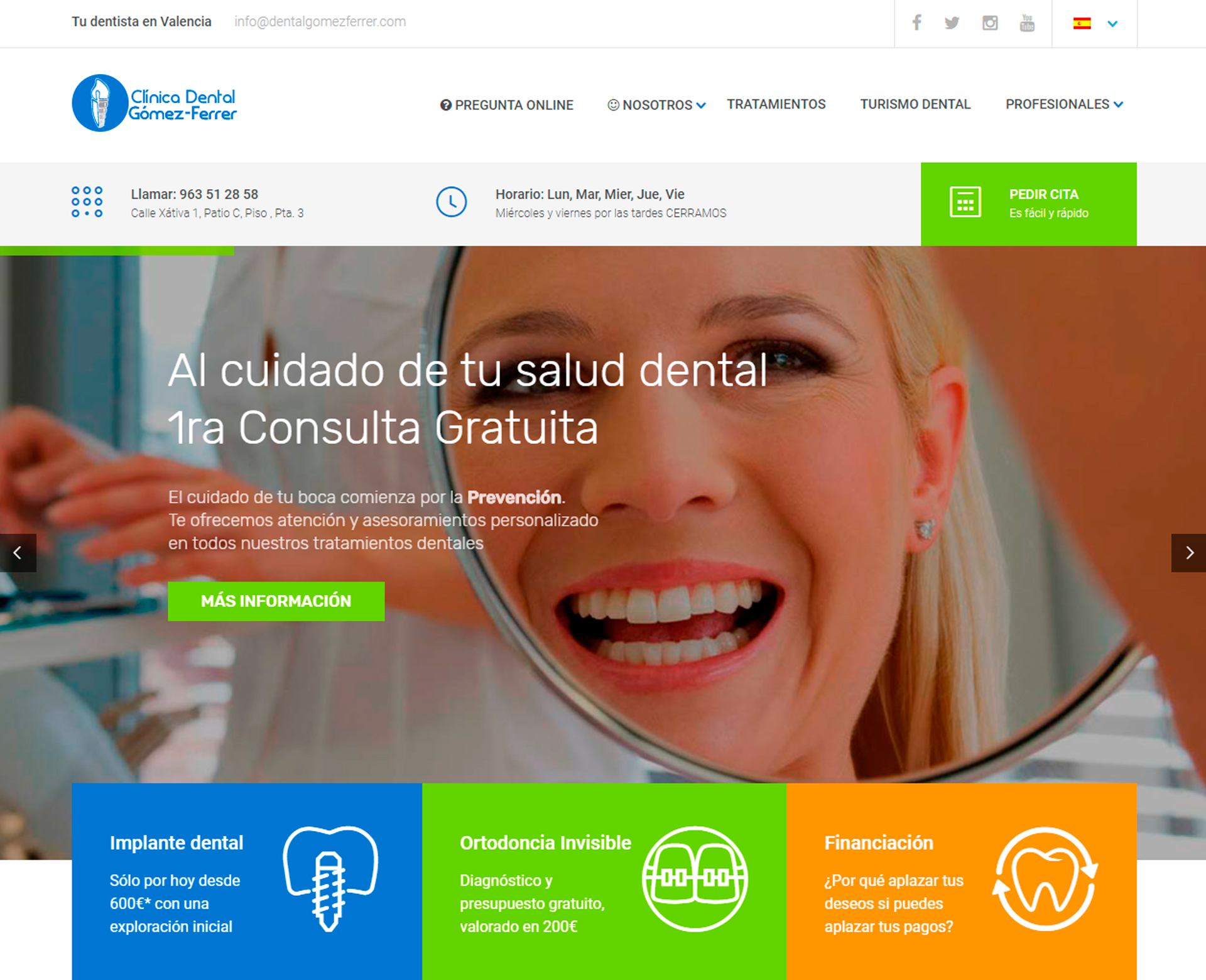 Clínica Dental Gómez-Ferrer en Valencia