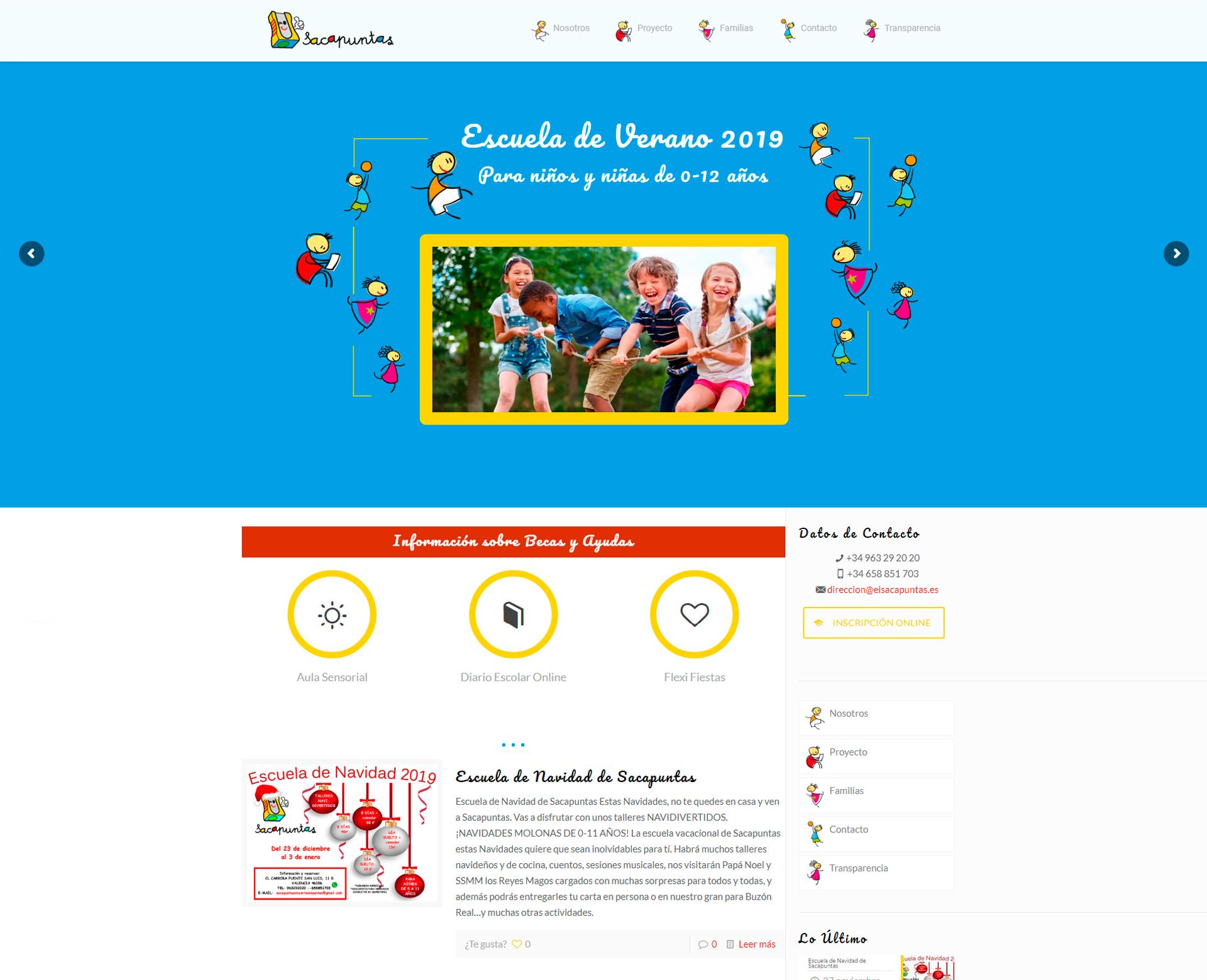 Sitio web Sacapuntas sin cortes ni Puntas en Valencia